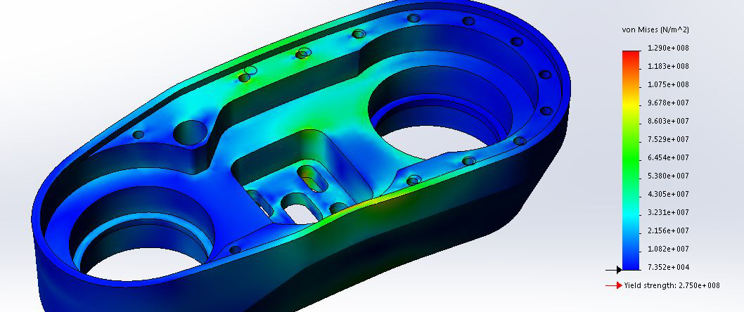 FEA-solidworks-custom-EOAT-for-fanuc-robot-laser-welded-blank-handling