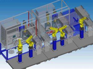 Fanuc Roboguide Simulation, LR-Mate, Assembly Line