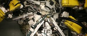 fanuc robot munitions assembly and test, turntable with laser / cognex vision inspection