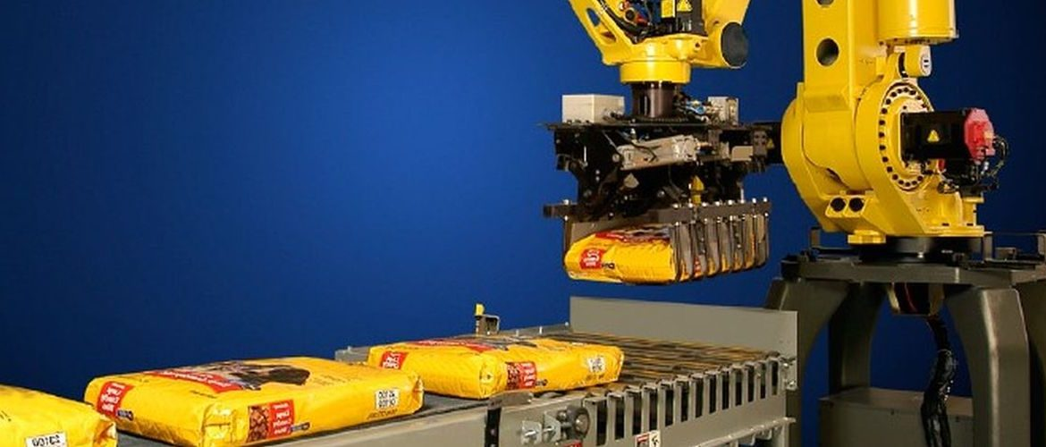 High speed robotic bag palletizer