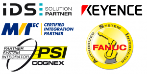 Cognex System Integrator, MVTec Integration Partner, IDS Solution Partner, Fanuc Authorized System Integrator, Keyence