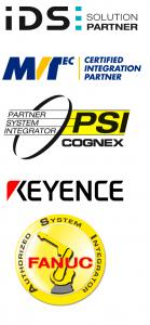 Cognex System Integrator, MVTec Integration Partner, IDS Solution Partner, Fanuc Authorized System Integrator, Keyence